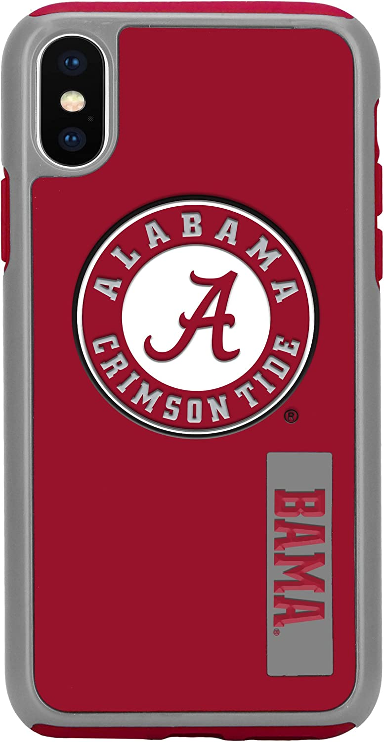 "Forever Collectibles iPhone XS/X 5.8"" Screen Only Dual Hybrid Impact Licensed Case - NCAA Alabama Crimson Tide"