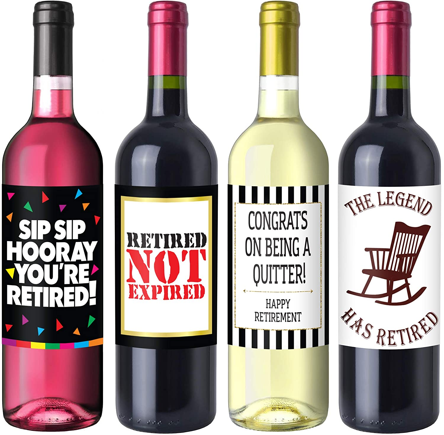 Retirement Party Wine Label Pack - Retirement Party Supplies, Gifts, and Decorations Sterling James Co.