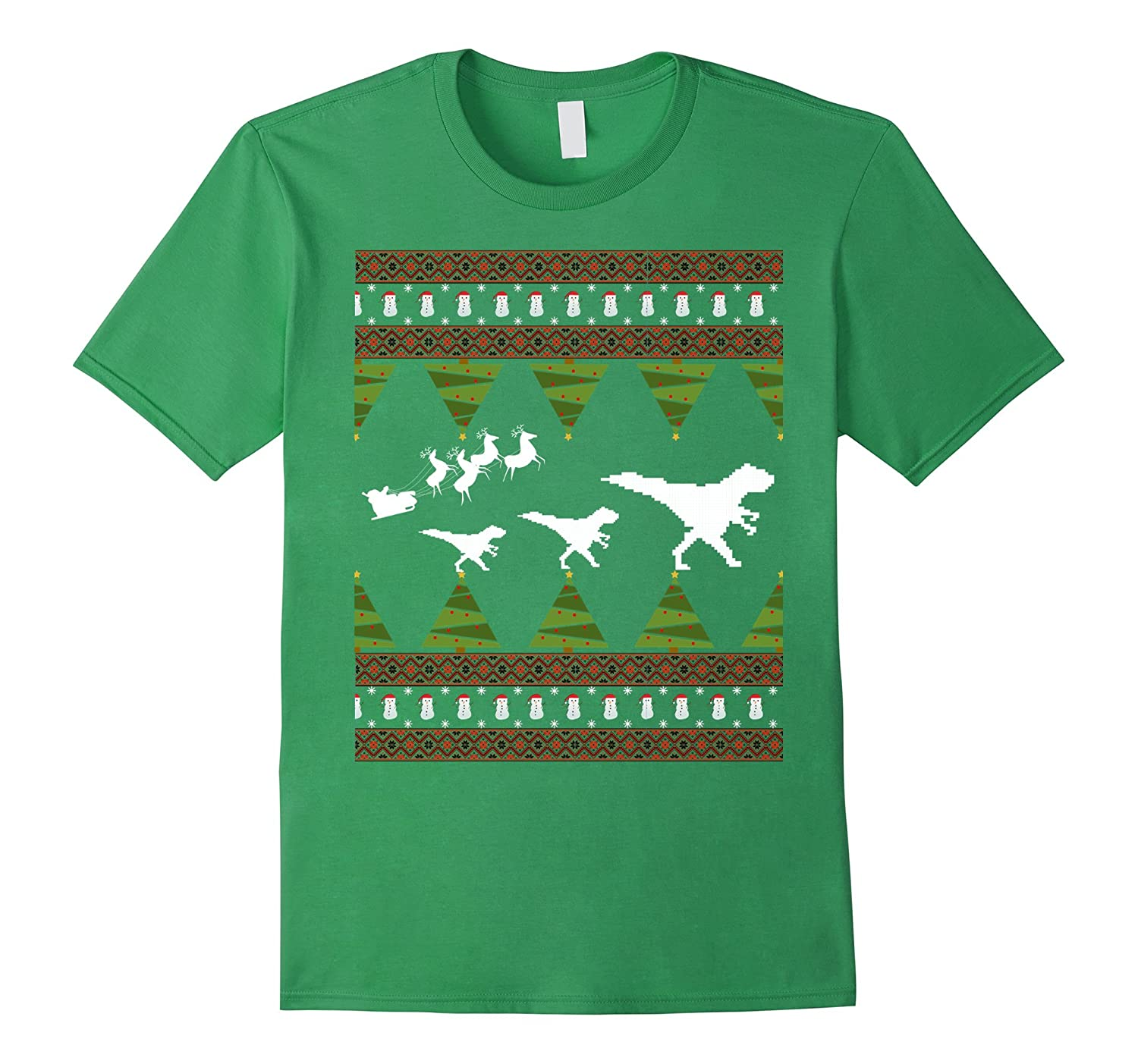 T Rex Ugly Christmas Sweater.T Rex Dinosaur Ugly Christmas Sweater Tree Costume T Shirt Anz