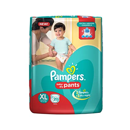 e8c057034ab7d Buy Pampers Extra Large Size Diapers Pants (20 Count) Online at Low ...