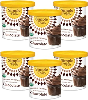 product image for Simple Mills Organic Chocolate Frosting with Coconut Oil, Birthday Cake Frosting, Made with whole foods, 6 Count (Packaging May Vary)