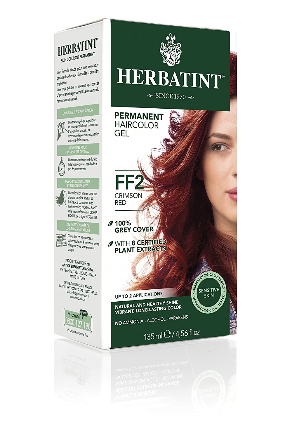 Herbatint Haircolor Kit Flash Fashion Crimson Red Ff2 -- 1 Kit UNFI - Select Nutrition HT00302