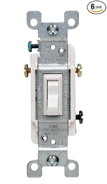 Leviton 1453-2WM 15 Amp, 120 Volt, Toggle Framed 3-Way AC Quiet ...