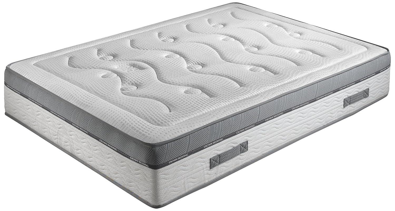 Crown Bedding J88101100 Royal Spring 800 - Colchón (90 x 200 cm, muelles ensacados, viscoelástico con memoria, nivel de dureza H4, transpirable): Amazon.es: ...