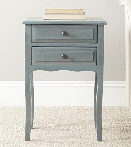 Safavieh Home Collection Lori Barn Blue 2-Drawer End Table