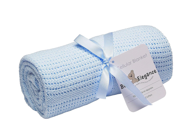 100/x 150/cm Baby Elegance/ zellul/är /Manta para cuna color azul
