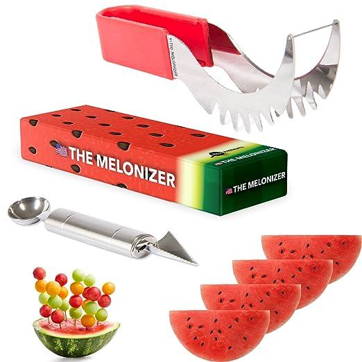 Cortador de sandía, cortador de melón, juego de palas de acero ...