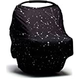 Baby Car Seat Cover - Nursing Cover - Stroller, Carseat Canopy Cover for Girls and Boys - Infant Car Seat Cover for Babies - Stretchy Baby Carrier Cover Breastfeeding Cover Stars Constellation
