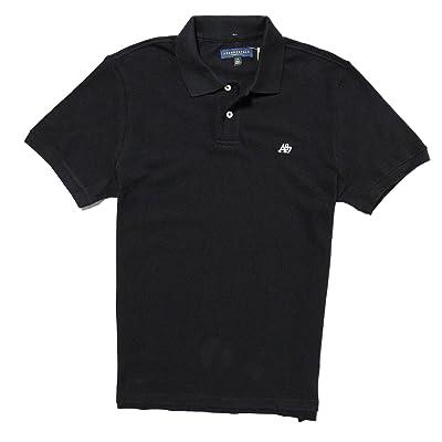 (エアロポステール) AEROPOSTALE 半袖ポロシャツ A87 Solid Logo Pique Polo ブラック Black [並行輸入品]