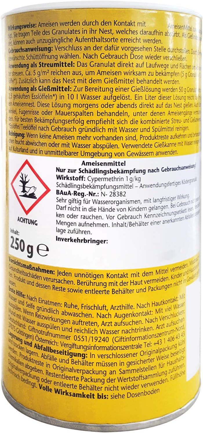 com-four® Hormigas 3X con Cebo 250g Cada una, Basura y Veneno para Hormigas, 750g (03 Piezas - remedio para Hormigas): Amazon.es: Jardín