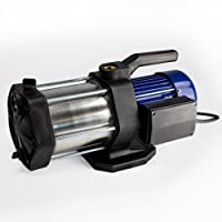 AWM 1300W Kreiselpumpe Edelstahl 5 stufige Hauswasserwerk Jetpumpe max. 5,5bar (5400 l/h) AM.1300-5SEG