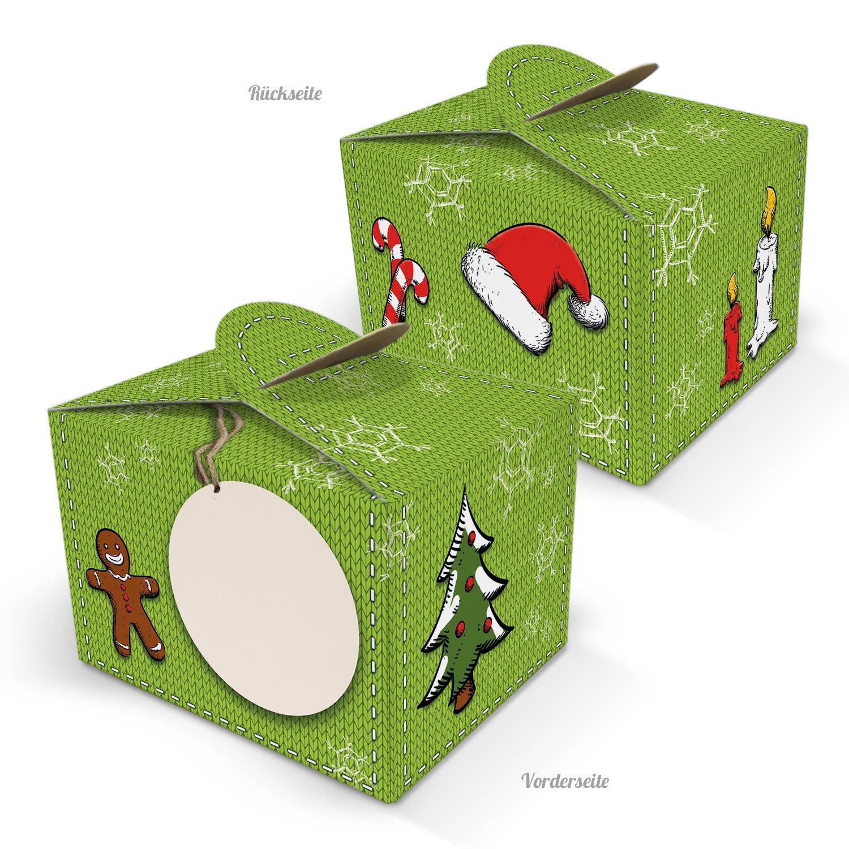 20 De Kleine claro verdes regalo Cajas Cajas de regalo (8 x 6,5 x 5,5) Mini de del paquete para regalos de Navidad, obsequios, Give de aways, ...