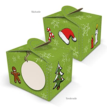 Geschenkkarton Weihnachten.10 Kleine Mini Schachtel Weihnachten Rot Grün Verpackung Geschenkkarton Geschenkschachtel 8 X 6 5 X 5 5 Cm Geschenke Weihnachtlich Verpacken