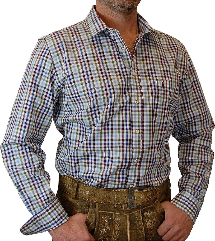 Almsach slim line Trachtenhemd Steve in Bicolor in verschiedenen Ausführungen