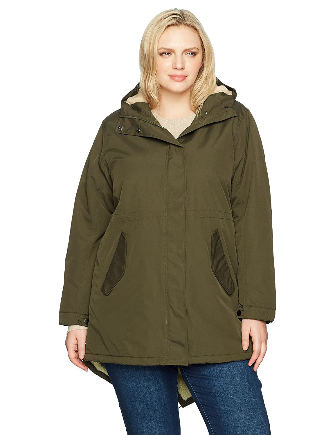 Champion Womens Plus Size Sherpa Lined Hooded Parka