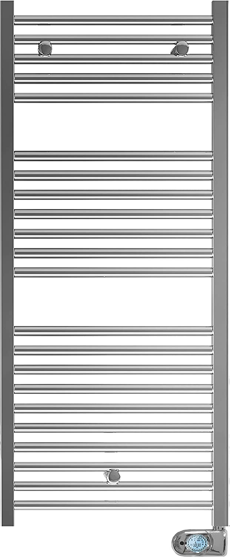 Fácula - Toallero Eléctrico Fluido Programable 700w Cromado Serie TCRP Bajo Consumo