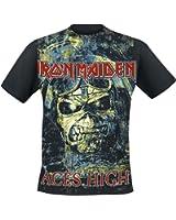 Iron Maiden Aces High T-Shirt nero