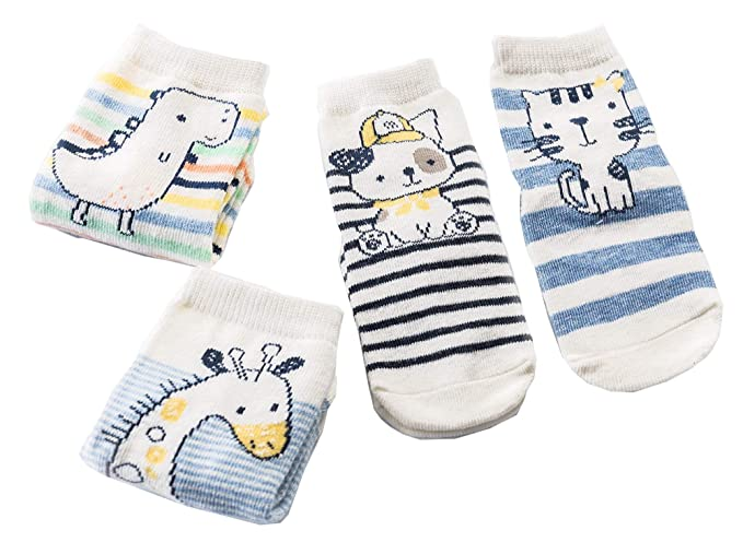 6ef4ac707 Amazon.com  Toddler Boys Girsl Cute Animal Cotton Crew Sock with ...