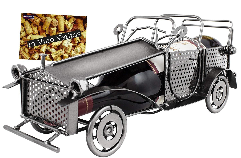 Amazon.de: BRUBAKER Weinflaschenhalter Vintage Auto Oldtimer ...