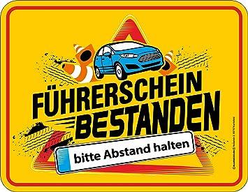 sprüche führerschein Amazon.de: empireposter Führerschein   Bestanden   Blech Schild  sprüche führerschein