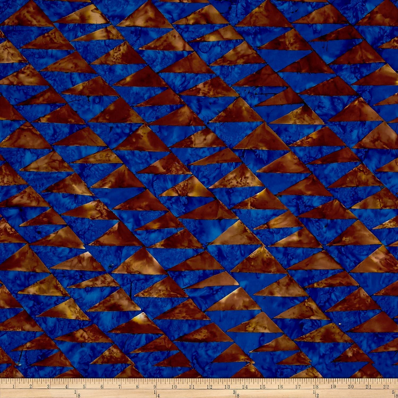 Brown and Blue Designed Batik Cotton Fabric