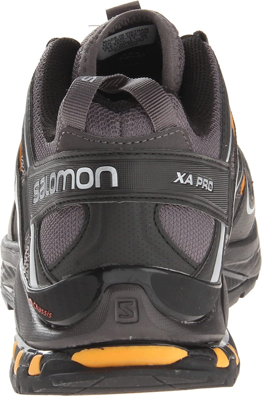 Salomon Herren Trail Running Schuhe, XA PRO 3D Grau Autobahn Black Yellow Gold