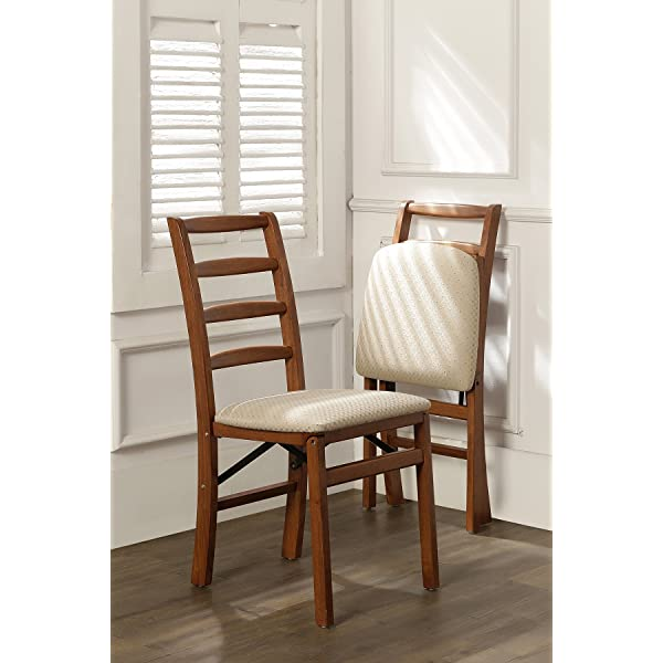 Stakmore Shaker Ladderback Folding Chair Finish, Set of 2, Fruitwood