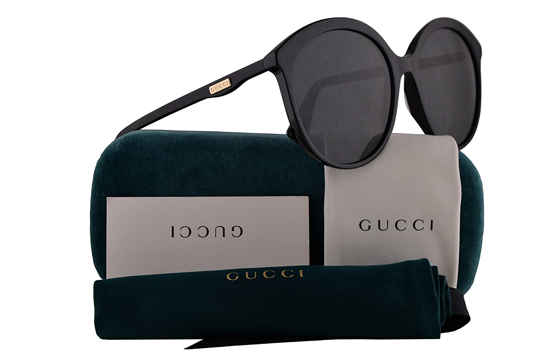 1ecf9cbbeb8b0c Amazon.com  Gucci GG0257S Sunglasses Black w Grey Lens 59mm 001 GG0257 S GG  0257 S GG 0257S  Clothing