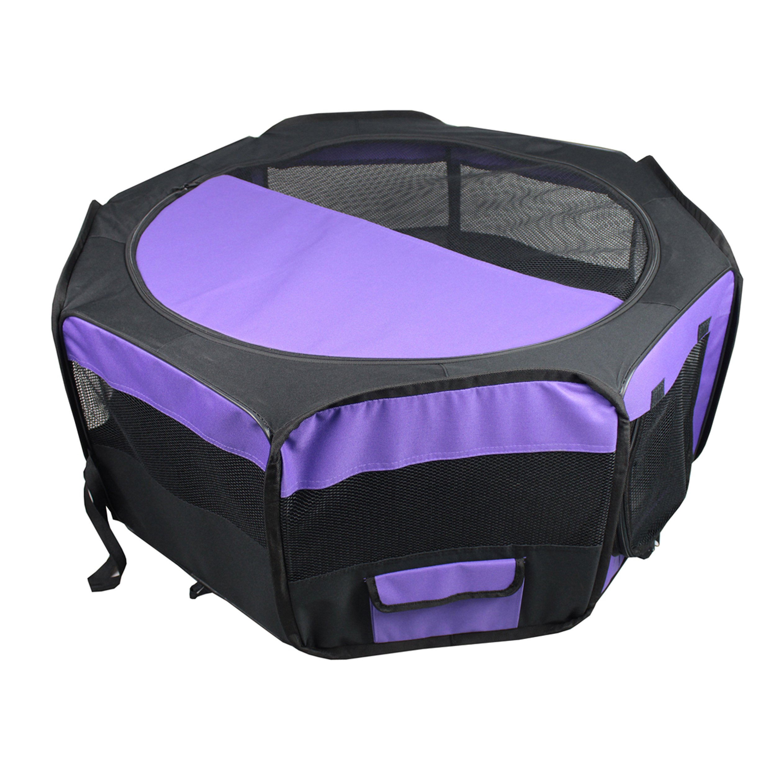 Iconic Pet Portable Pet Soft Play Pen, Purple, Small by Iconic Pet (Image #5)