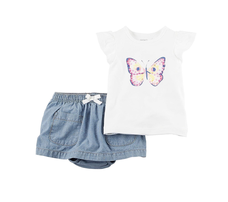 直営店に限定 Carter 'sベビー女の子バタフライスカートセット 12 12 Months Months ホワイト ホワイト B06X9TKN4L, イワイズミチョウ:3e979f1c --- arianechie.dominiotemporario.com
