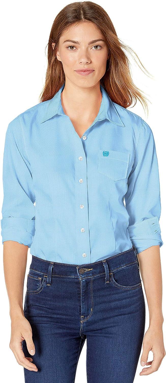 Cinch Women's Printed Long Sleeve Shirt: Clothing
