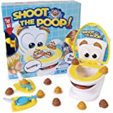 Maya Games Shoot The Poop - Funny Family Game - Fast and Frenzied Flushing Poop Game for Kids - Includes Talking Toilet Bowl,