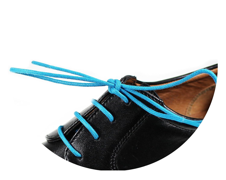 Loco!Laces Gewachste bunte farbige runde Schnürsenkel für Business-Schuhe und leder Anzug-Schuhe Arbeitsschuhe Rundsenkel Schuhbänder 80cm Länge ca 2,5mm Durchmesser