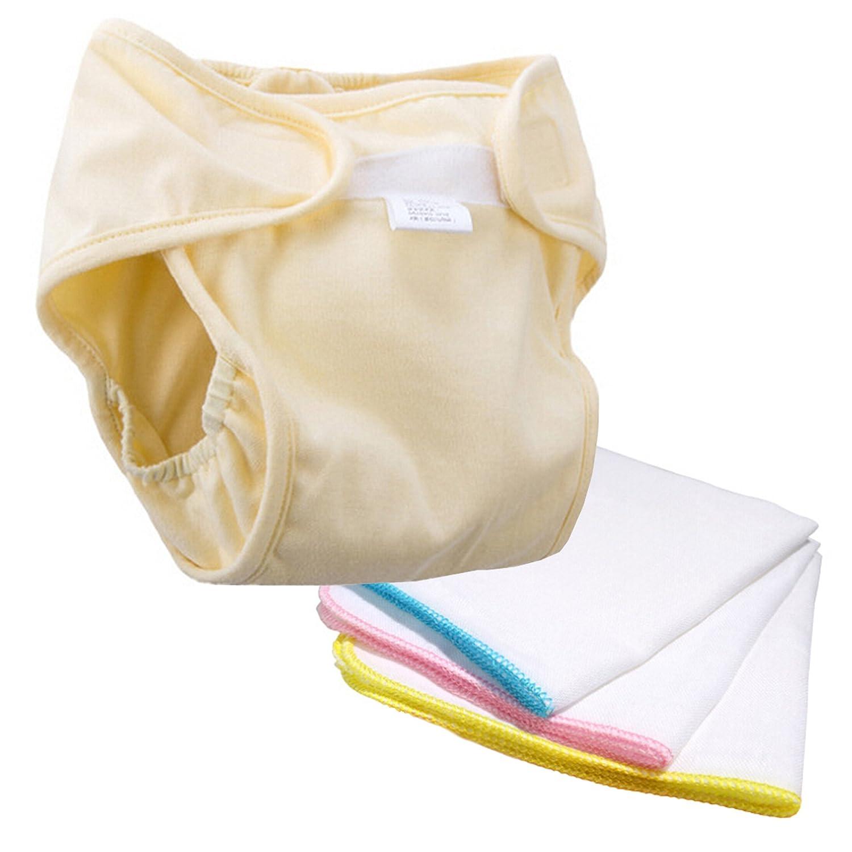 Lantelme 5783 Baby Pañ ales y manopla Set. Reutilizable y lavable Baby Trainer Pantalones Algodó n