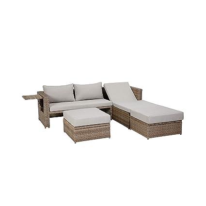 Beliebt Ribelli Gartenmöbel Lounge Set 'Sao Paulo' Multifunktion Aluminium EQ26