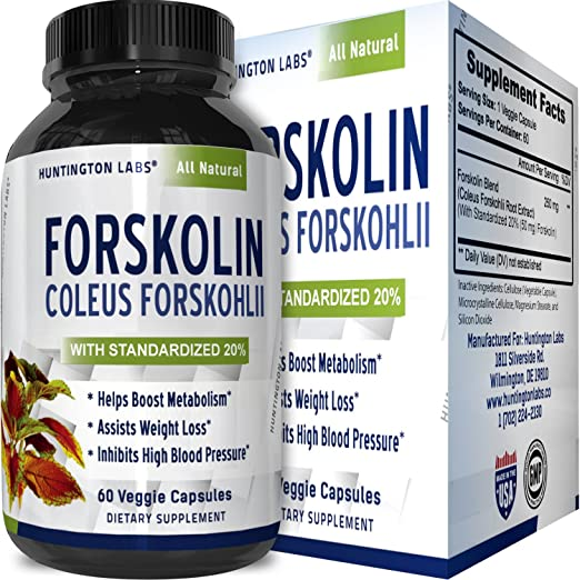 Forskolin Extract Weight Loss Supplement Natural Diet Pills for Men & Women – Natural Fat Burn Benefits Boost Metabolism Curb Appetite Preserve Lean Body Mass Pure Coleus Forskohlii by Natures Design