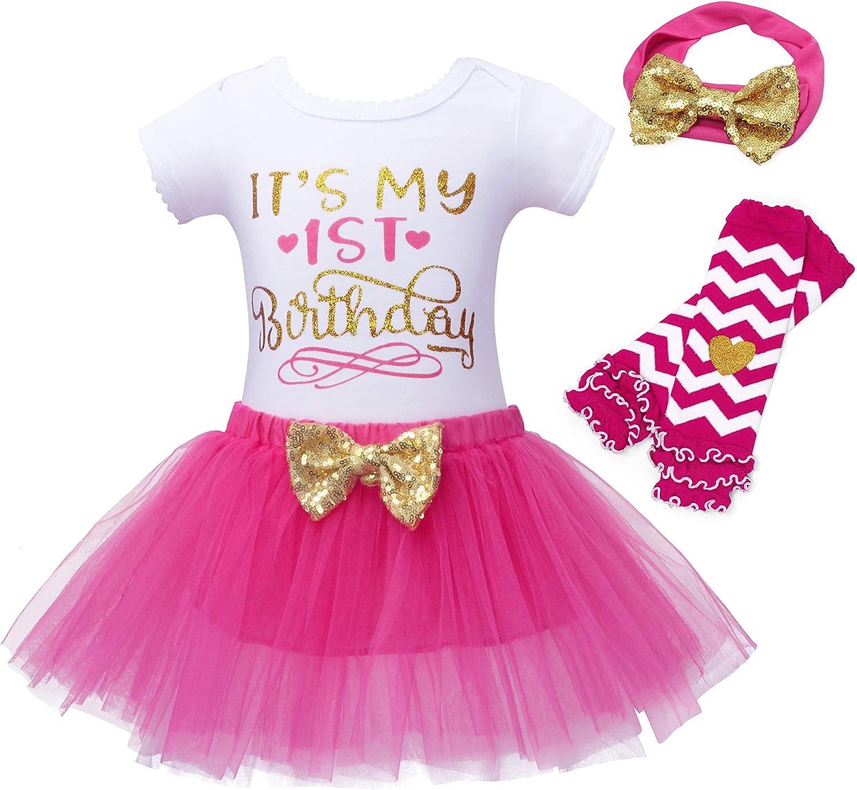 Jurebecia Unicorn Baby Girls Costume 1st Birthday Tutu Skirt Dress with Headband