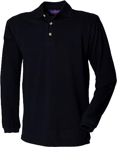 Henbury - Polo de manga larga liso para hombre/caballero 100 ...