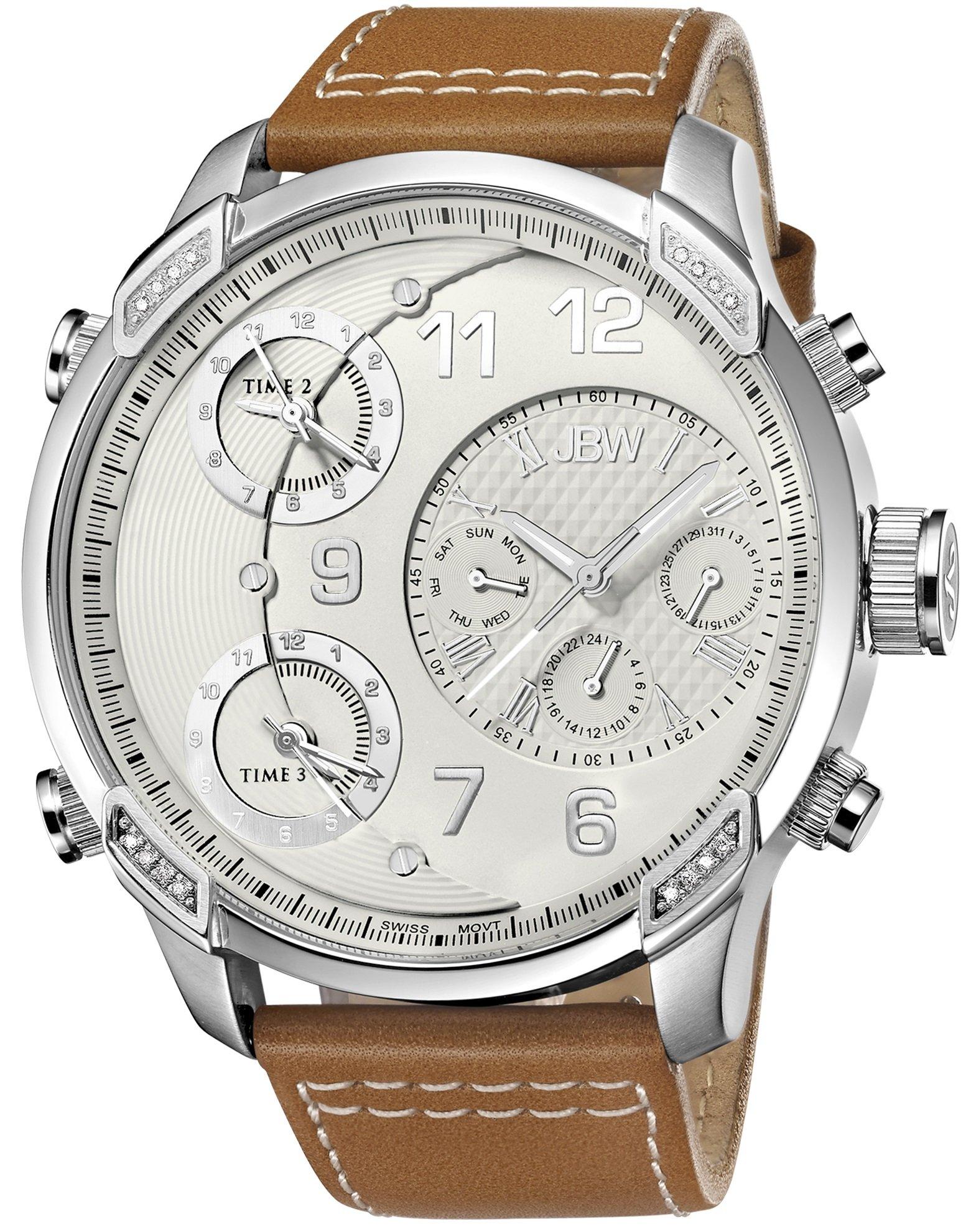 Jbw Men's J6248Lm G4 Analog Display Swiss Quartz Brown Watch 8