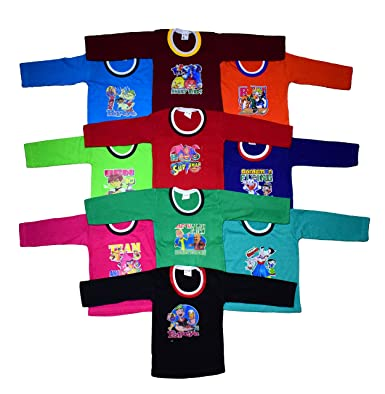 72b5974e4851 ISAKAA Baby 5 and 10 Cotton Full Sleeve Tshirts Colour Full Sleeves  Amazon. in  Clothing   Accessories