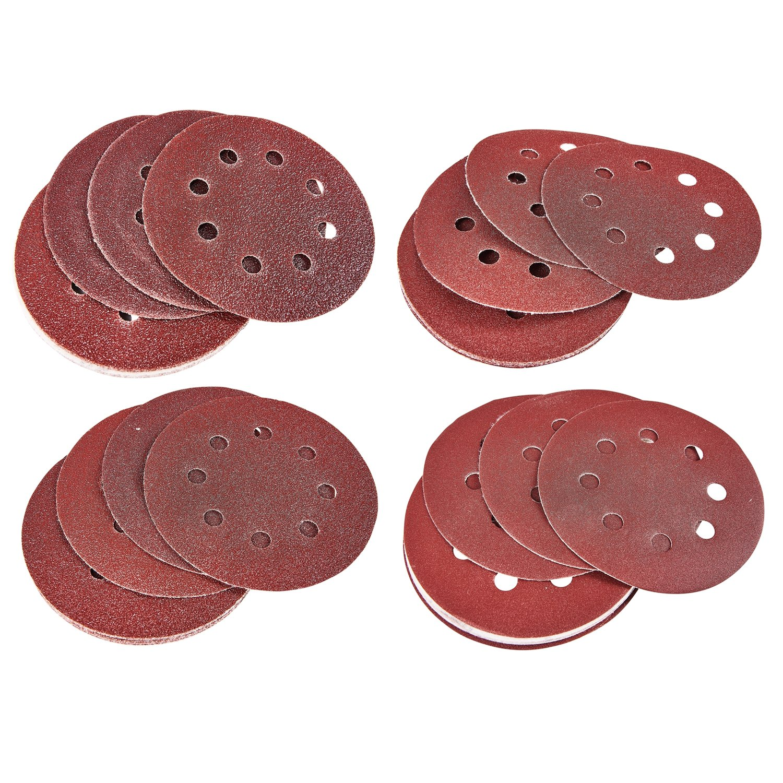 40 Pack Amtech Circular Sanding Sheets 60g 80g 120g 240g Hook & Loop 3 Year Warranty Tooltime®