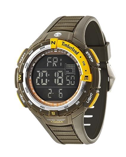 Timberland 14502JPGNS/02 - Reloj , correa de goma color verde: Amazon.es: Relojes
