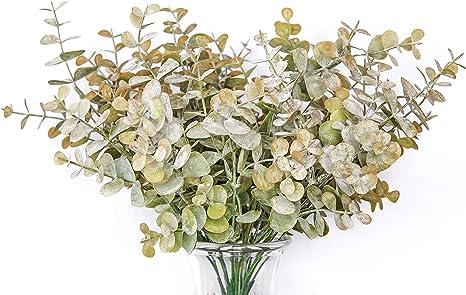 "Wheat Eucalyptus 11/"" long Faux Spray"