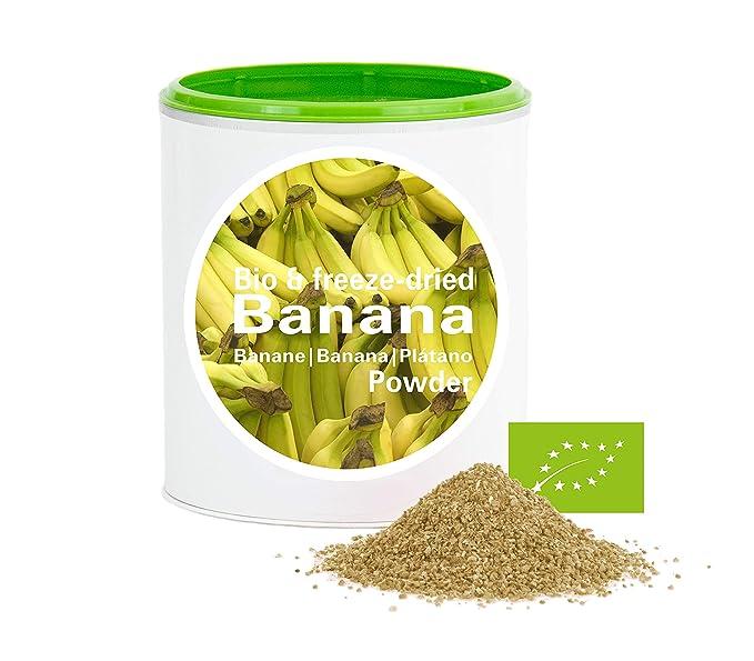 Plátano en Polvo - Liofilizado|biológico|vegano|crudo|pura fruta|no