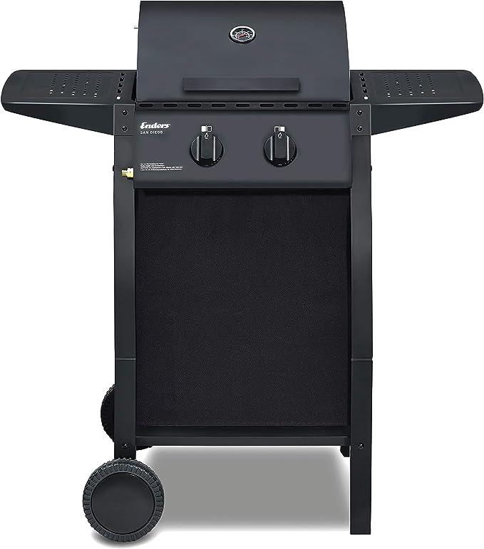 Enders San Diego 2 Gas Barbecue, Silver: Amazon.es: Jardín
