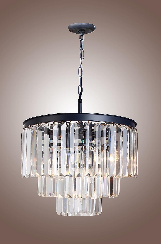 1920s odeon clear glass fringe 3 tier chandelier amazon arubaitofo Gallery