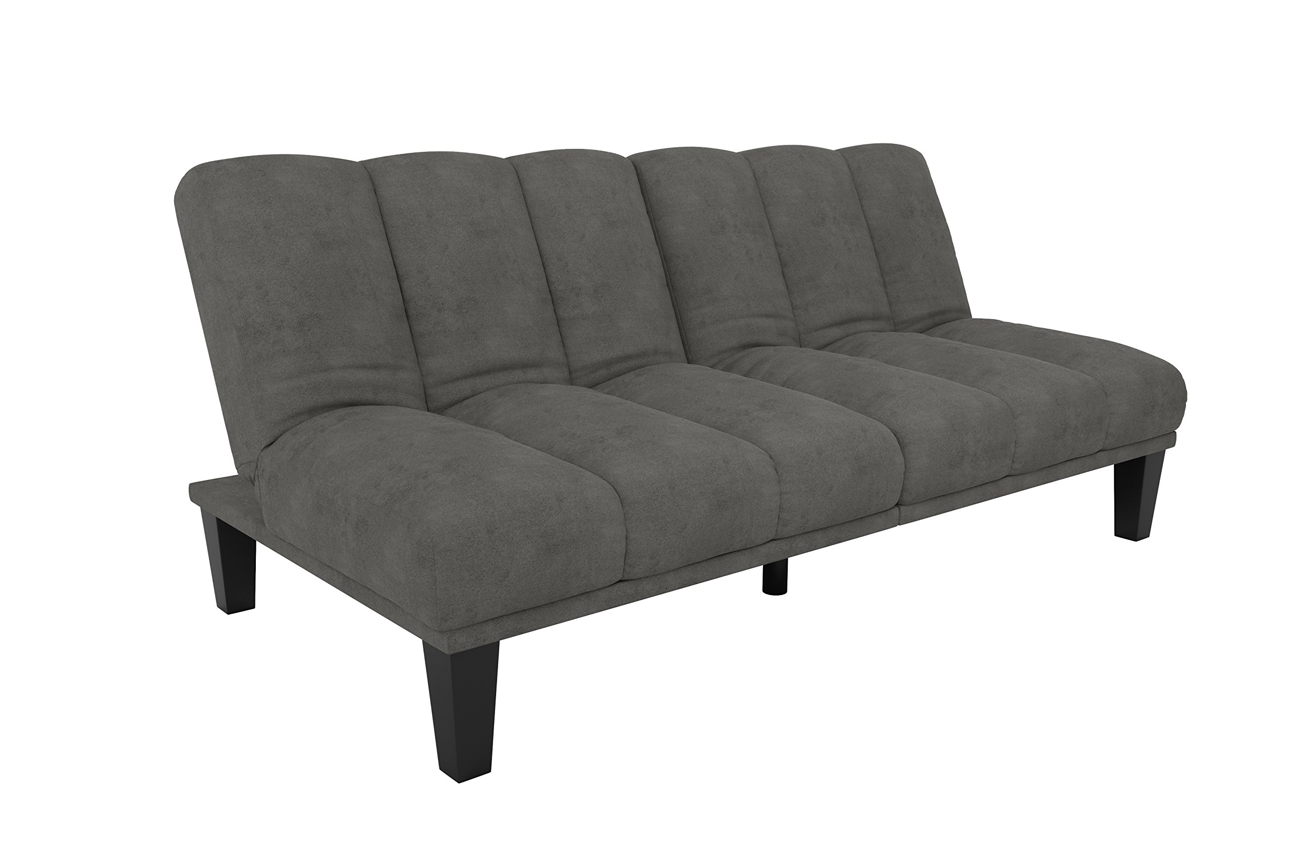 DHP Hamilton Estate Premium Sofa Futon Sleeper Comfortable Plush Upholstery, Rich Gray by DHP (Image #5)