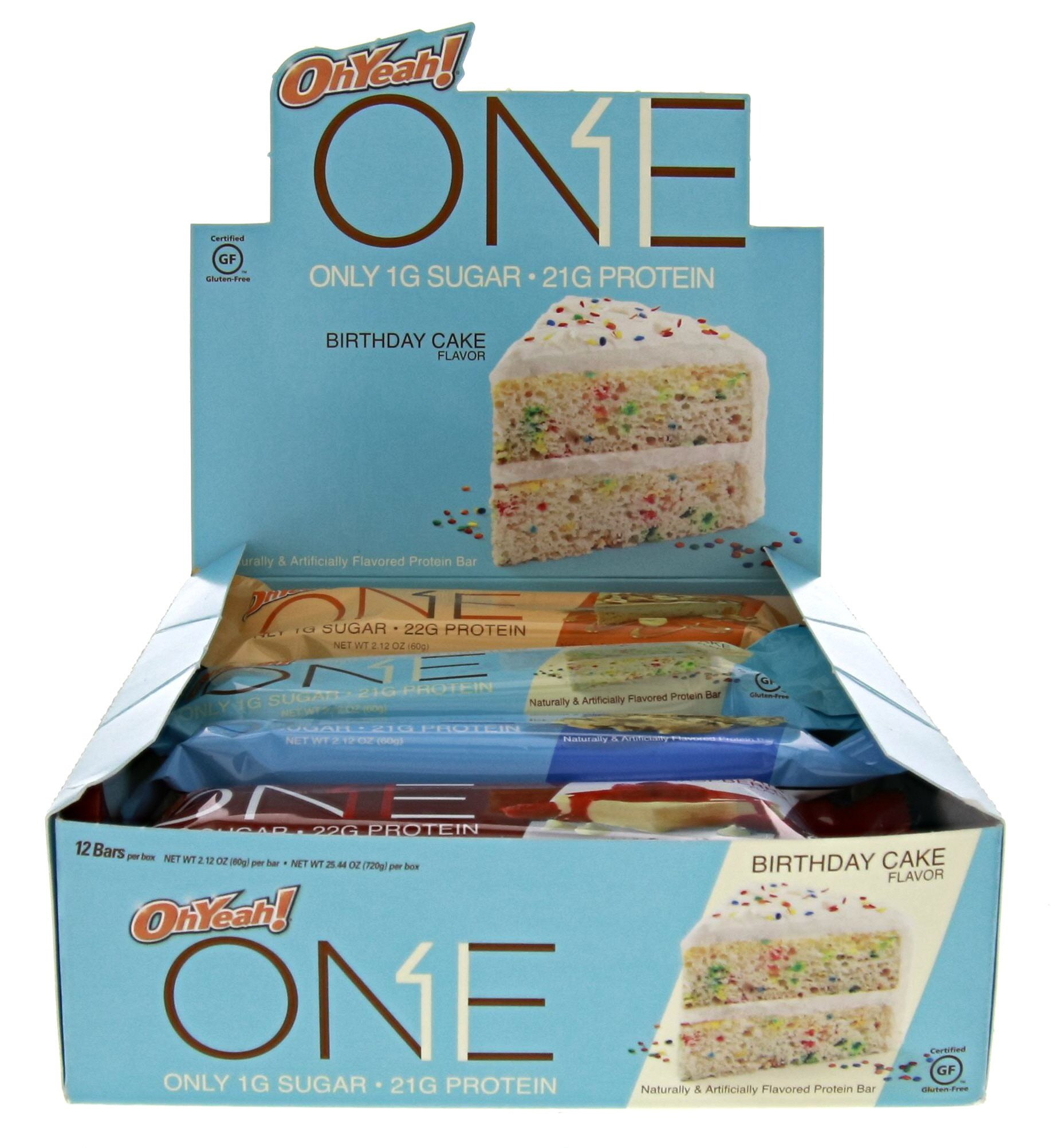 Oh Yeah! ONE Protein Bar Variety Pack, 12 count, Gluten-Free Protein Bars with High Protein (20g) and Low Sugar (1g), Guilt Free Snacking for Healthy Diets by ONE