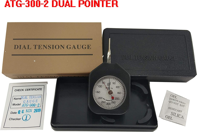 30g Dial Tension Gauge Double Pointers Force Meter Tension Meter ATG-30-2