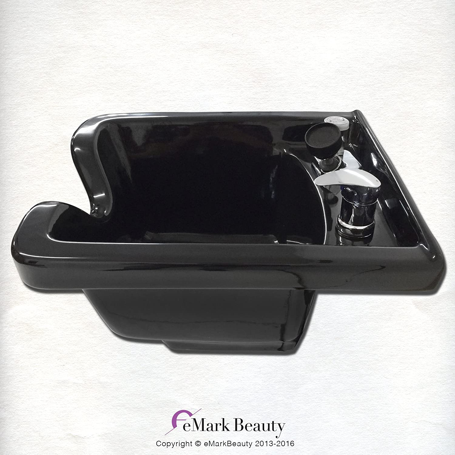 Square Shampoo Bowl Black ABS Plastic Salon and Spa Hair Sink Beauty Salon Equipment TLC-1016 KSGT